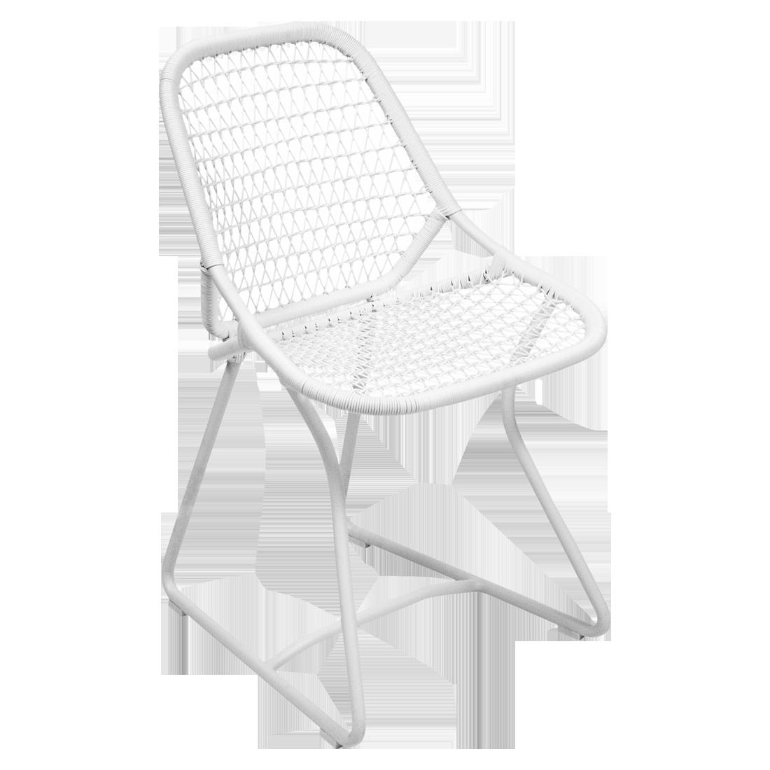 chaise de jardin design, chaise fermob, chaise blanche, chaise sixties