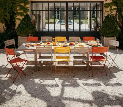 collection slim fermob mobilier de jardin en m tal. Black Bedroom Furniture Sets. Home Design Ideas