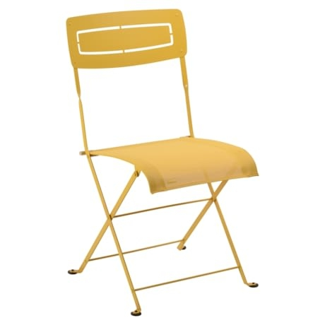 chaise pliante, chaise en toile, chaise pliante en toile, chaise pliante fermob, chaise pliante jaune
