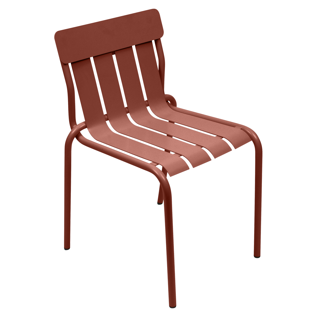 Chaise stripe ocre rouge