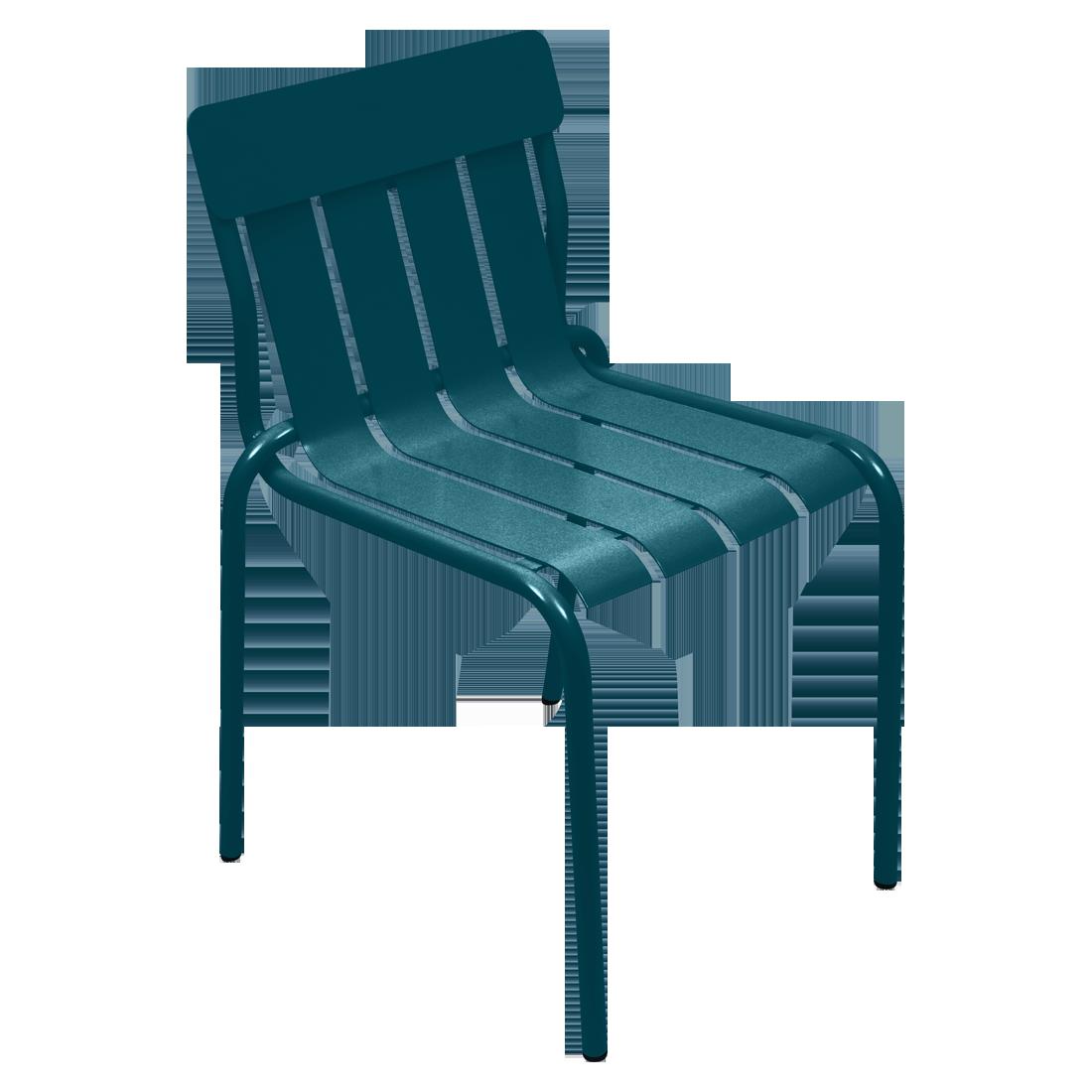 Chaise stripe bleu acapulco