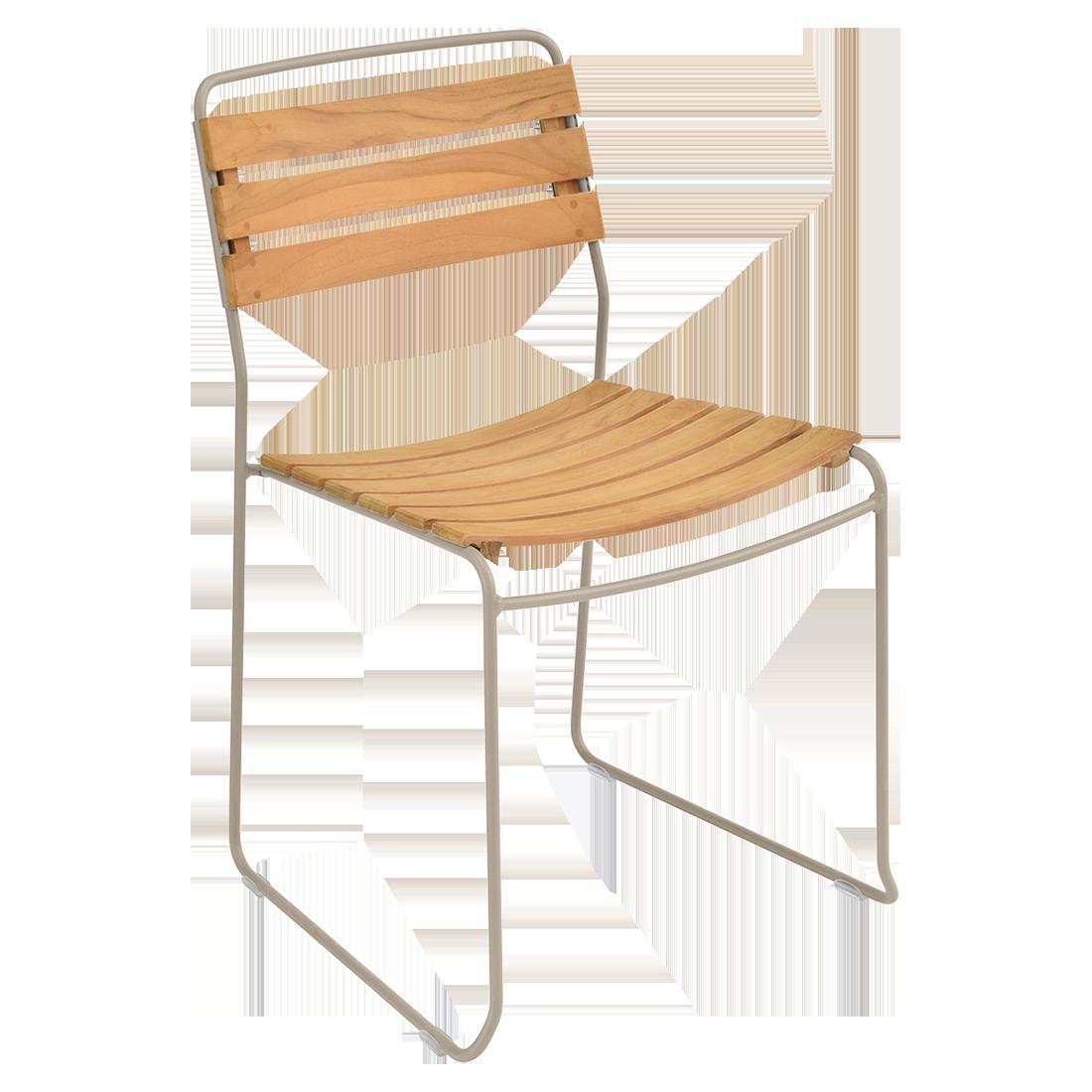chaise surprising, chaise fermob, chaise bois et metal, chaise de jardin, chaise design, chaise bois et beige, guggenbichler