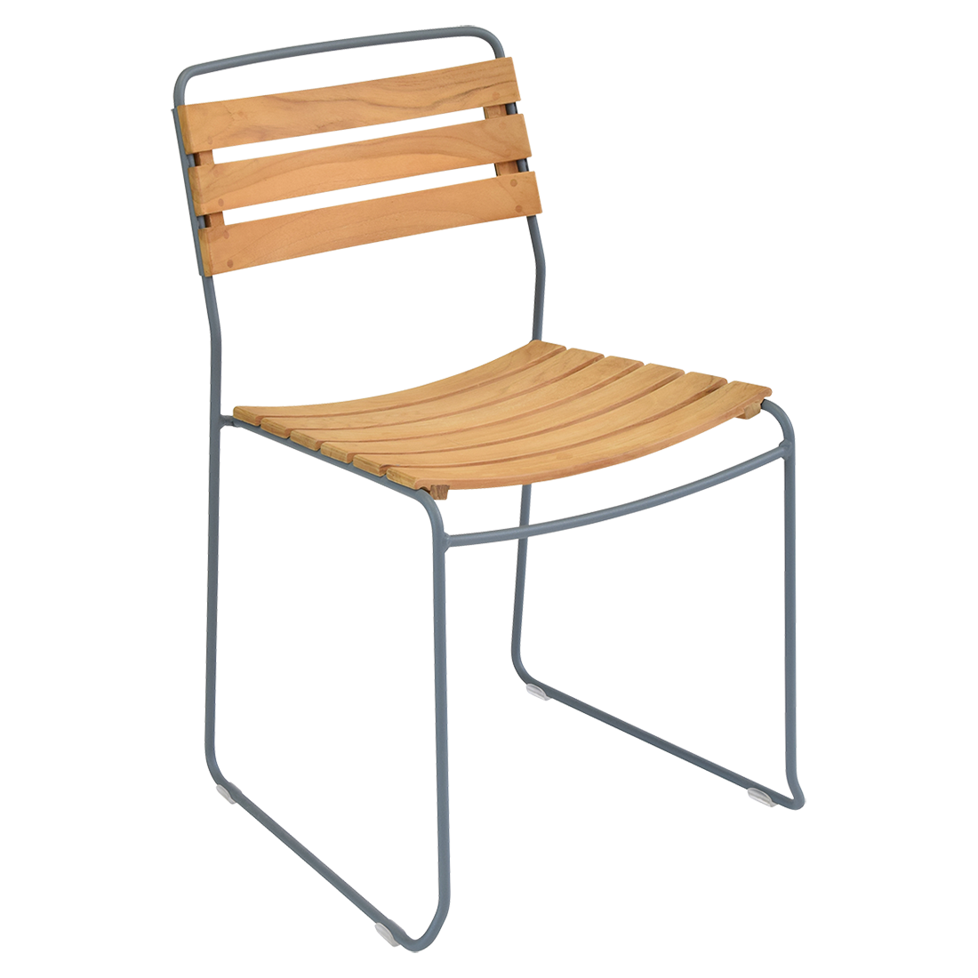 chaise surprising, chaise fermob, chaise bois et metal, chaise de jardin, chaise design, chaise bois et gris, guggenbichler