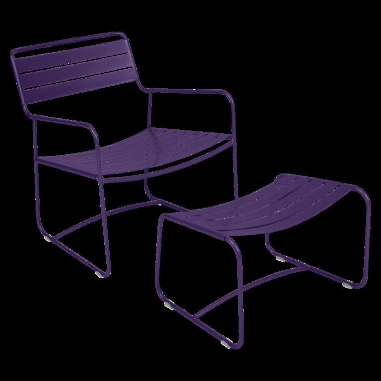 Lounger Surprising, fauteuil de jardin et repose-pieds, salon de jardin