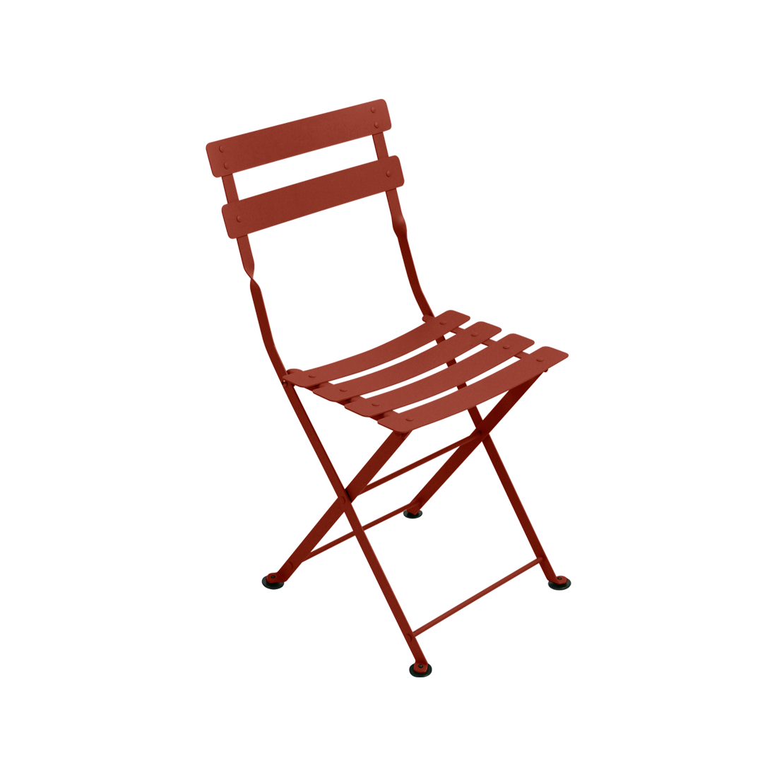 Chaise tom pouce ocre rouge