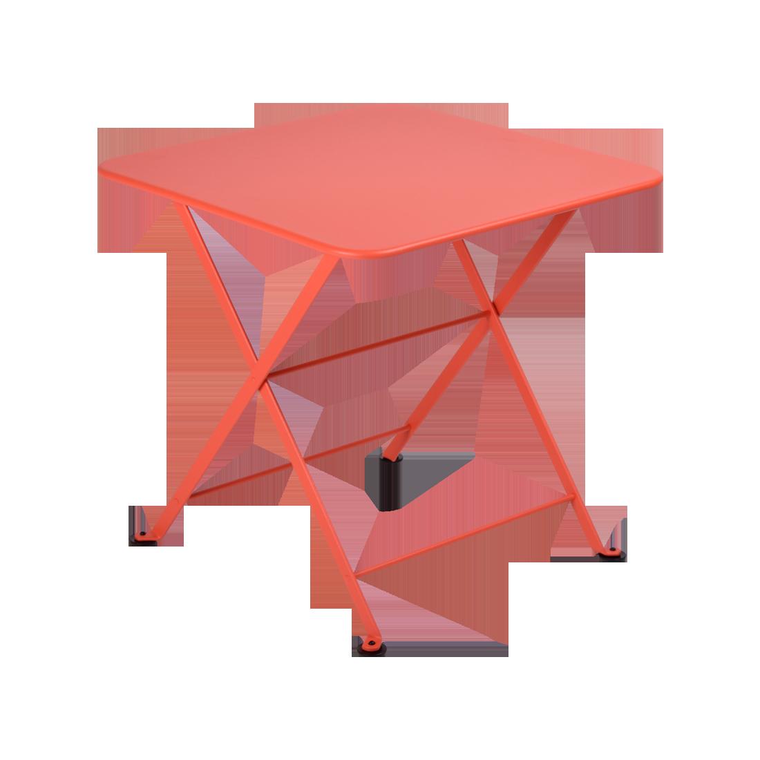 table basse metal, table enfant metal, table de jardin pour enfant, table basse orange