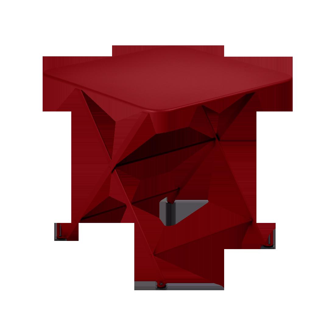 table basse metal, table enfant metal, table de jardin pour enfant, table basse rouge