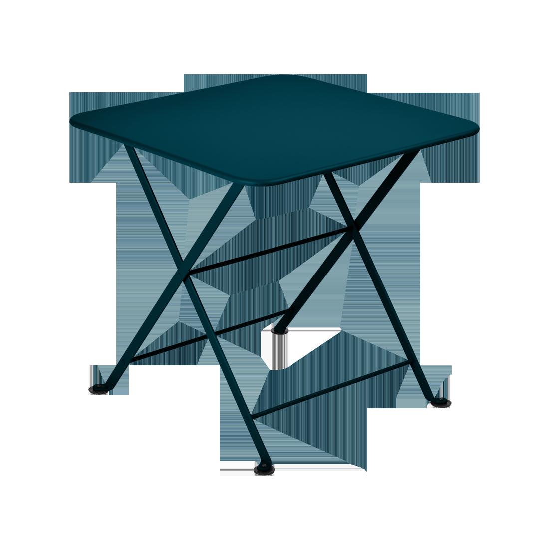 Table basse 50 x 50 cm tom pouce bleu acapulco
