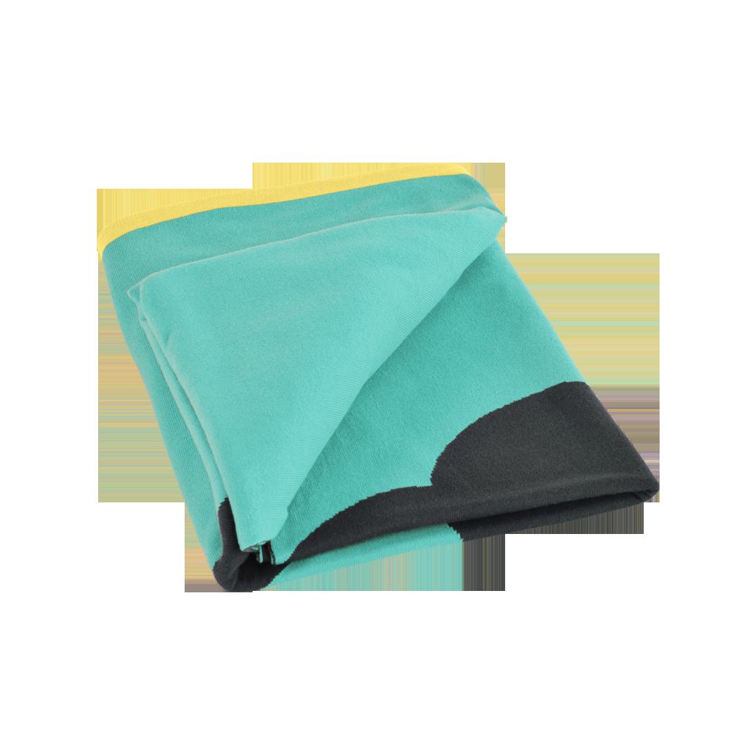 Tr fle blanket outdoor plaid fermob - Plaid bleu turquoise ...
