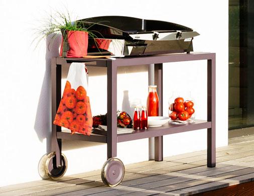 les dessertes roulantes de fermob mobilier de jardin. Black Bedroom Furniture Sets. Home Design Ideas