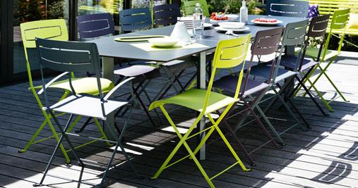 Slim chair metal chair outdoor furniture - Chaise pliante fermob ...