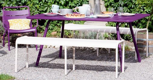 165x80 cm luxembourg table outdoor metal table - Table jardin fermob ...