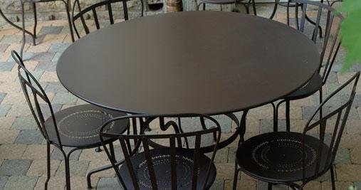 table ronde 117 cm table de jardin metal table jardin 6 personnes. Black Bedroom Furniture Sets. Home Design Ideas