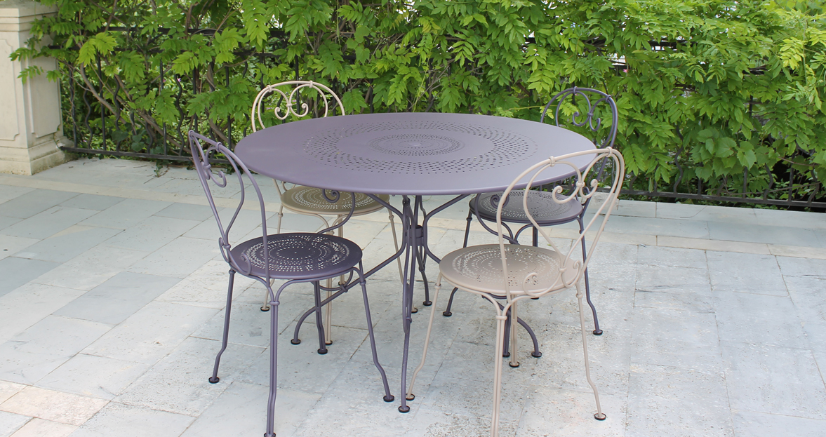 1900 round table 117 cm garden table for 6 - Ambiance tables et chaises reims ...