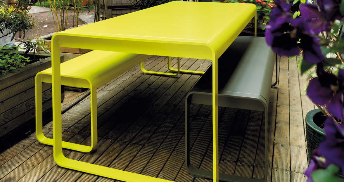 Table bellevie table de jardin table jardin 8 personnes for Banc et table de jardin