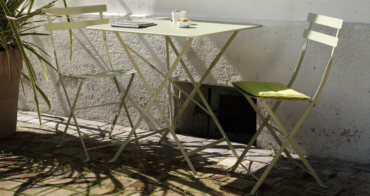 chaise metal et table de jardin Bistro