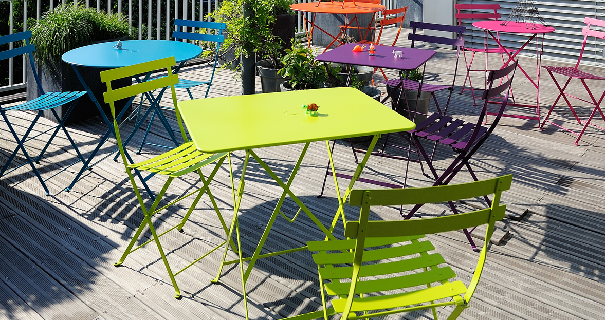 77x57 cm bistro table metal table outdoor furniture - Table bistro jardin ...