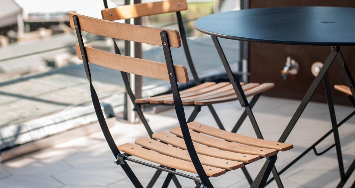 Chaise Naturel Bistro Chaise En M Tal Et Bois