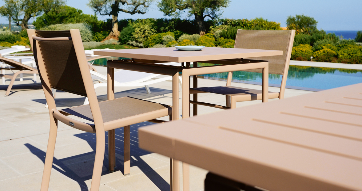 table costa 80x80 cm table de jardin table jardin 4 places. Black Bedroom Furniture Sets. Home Design Ideas