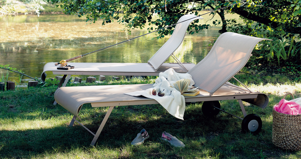 Dune sunlounger fabric chaise longue otf outdoor furniture for Changer toile chaise longue