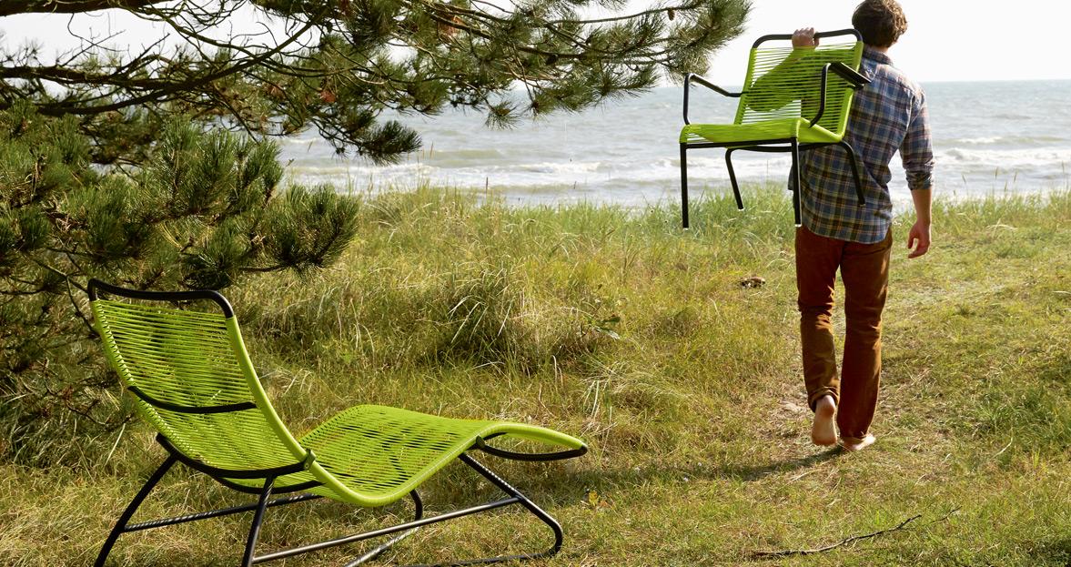 chaise longue et fauteuil bas