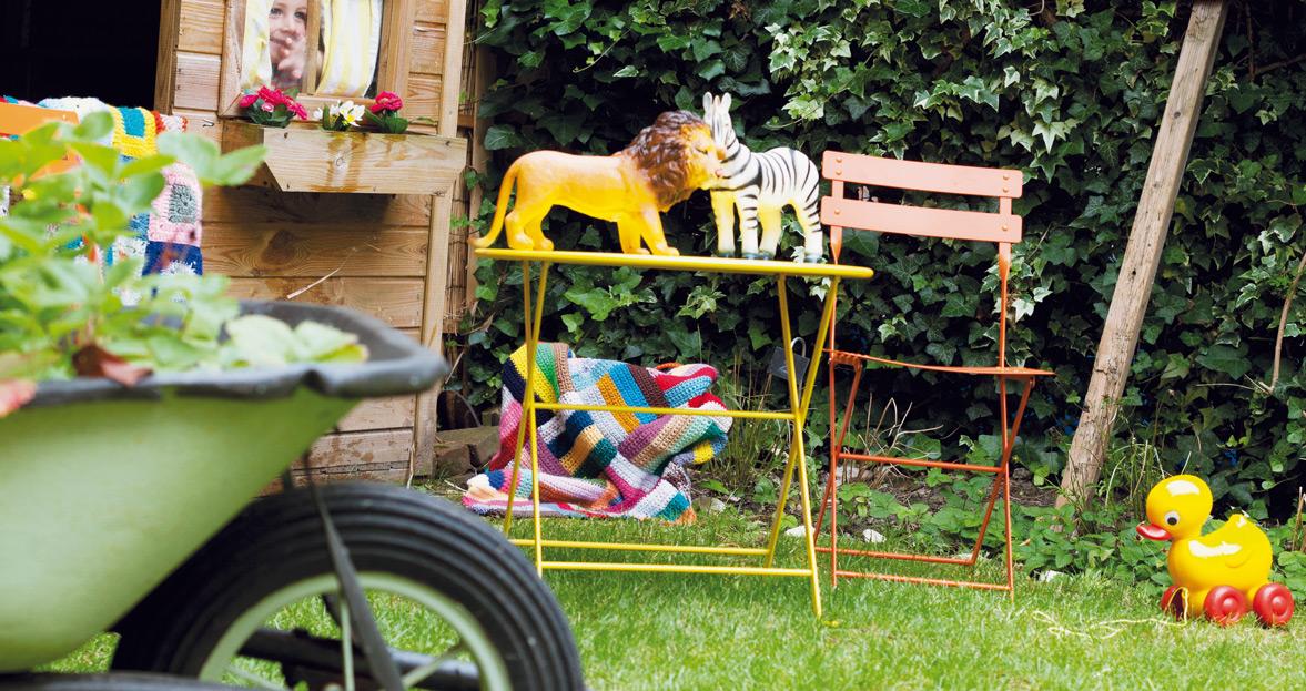 chaise metal et table de jardin pour enfant
