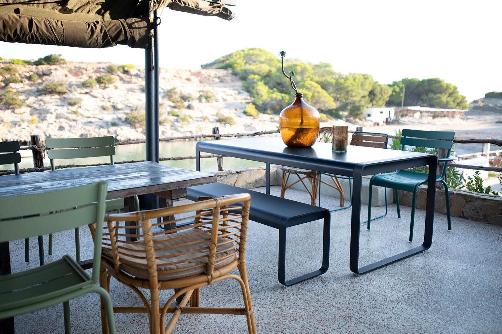 table metal, chaise metal, banc metal, table de jardin