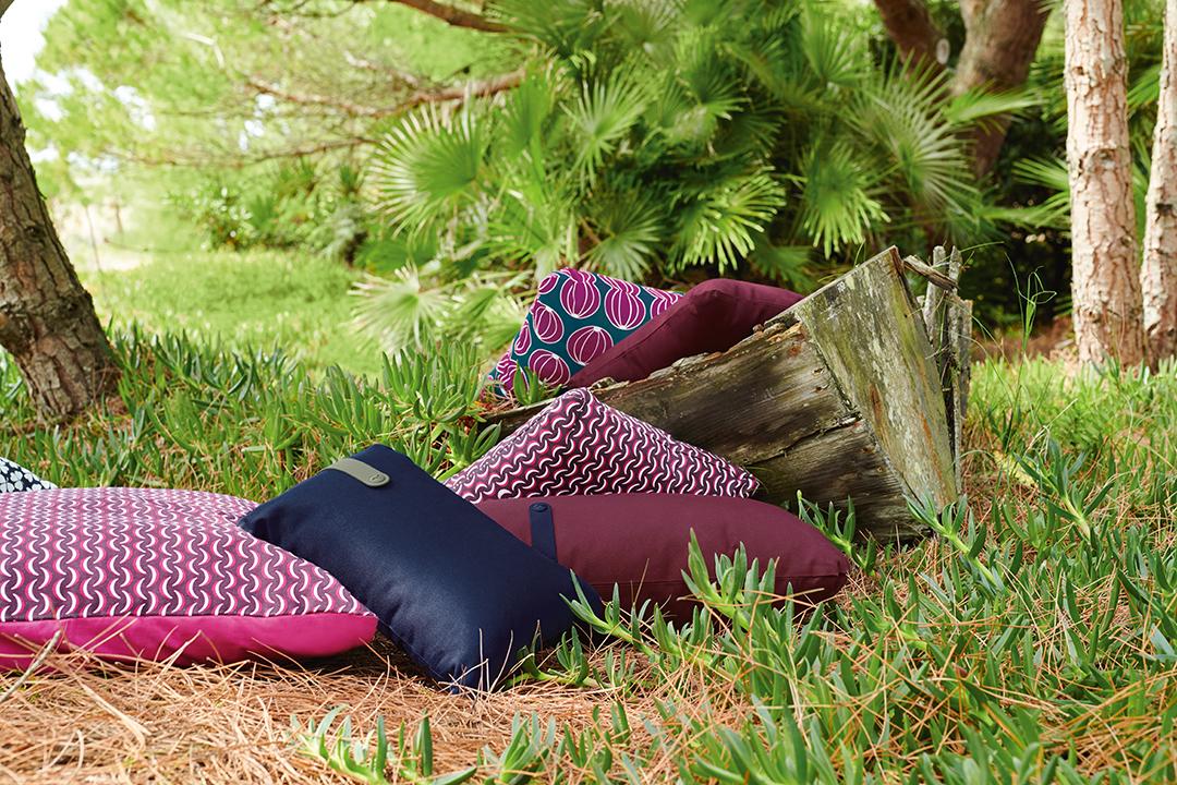 coussin de jardin, coussin terrasse, outdoor cushion, deco jardin