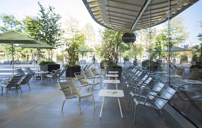Fauteuil jardin, fauteuil terrasse, fauteuil métal, table basse