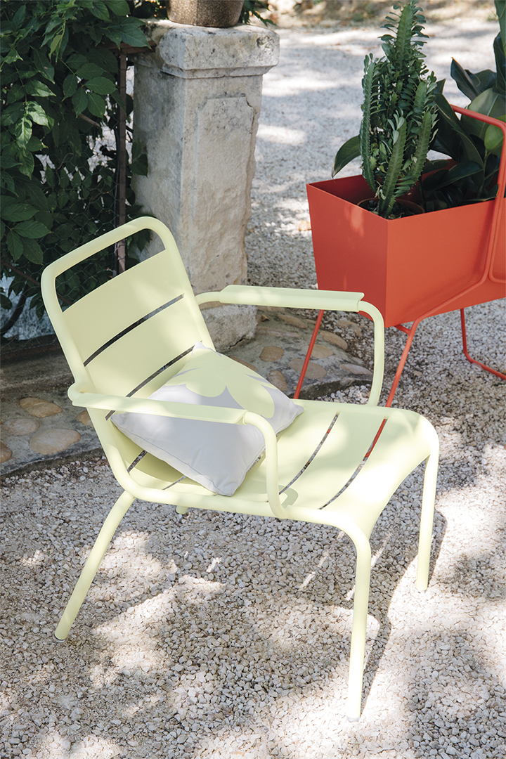 Fauteuil bas, lounge, exterieur, jardin, metal, fermob, mobilier,