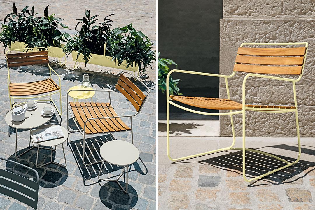 fauteuil metal, metal armchair, fermob armchair, outdoor furniture, mobilier exterieur, fauteuil design