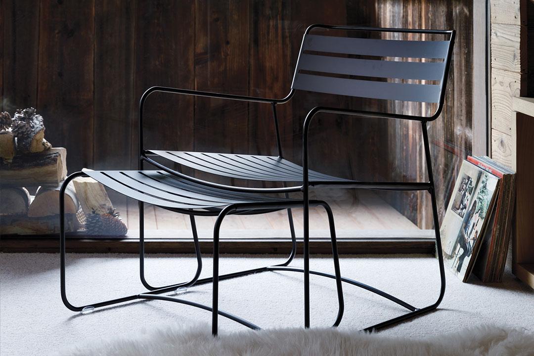 fauteuil de jardin, fauteuil metal, fauteuil terrasse, fauteuil et repose pied