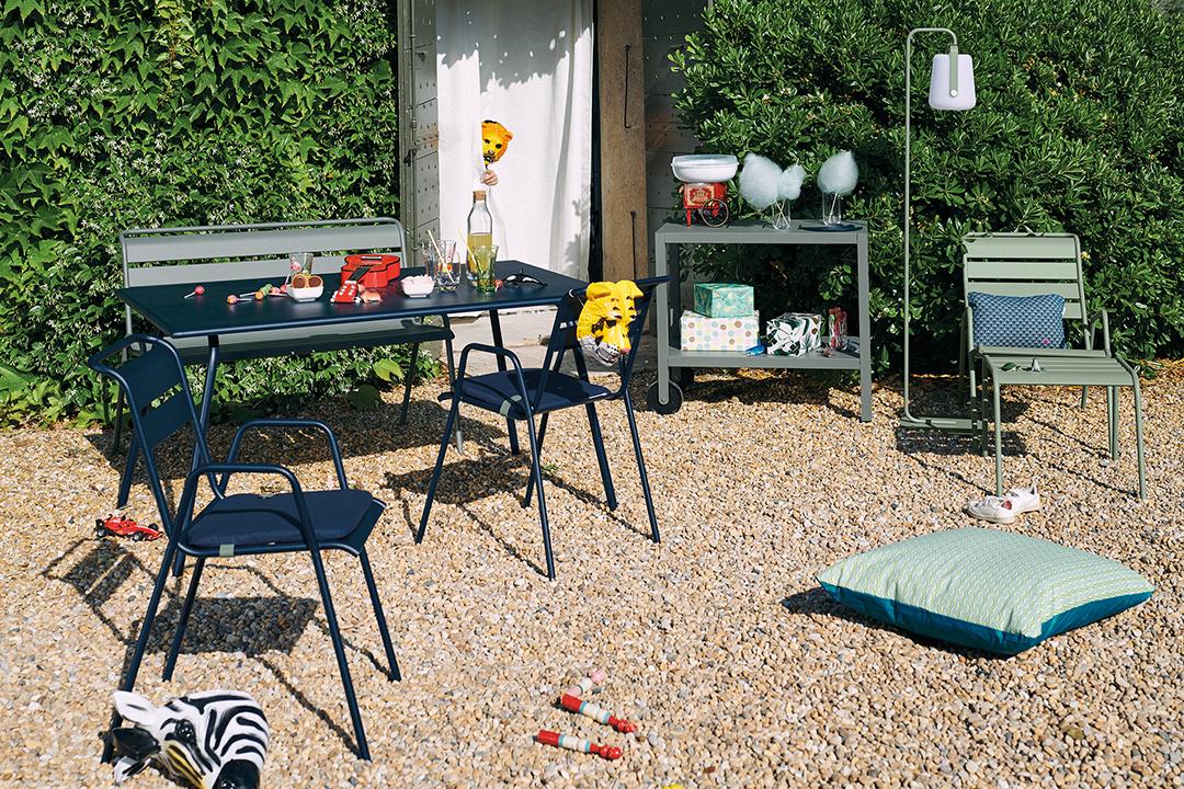 chaise metal, chaise de jardin, table metal, table de jardin, mobilier de jardin