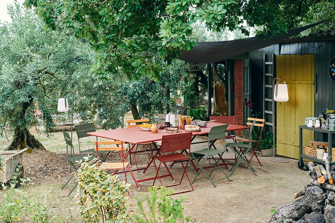 chaise de jardin, table de jardin, table carree, table de jardin 8 personnes, chaise en toile