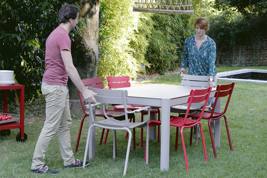 table de jardin, table metal, table 12 personnes, table de jardin a rallonge, table allonge