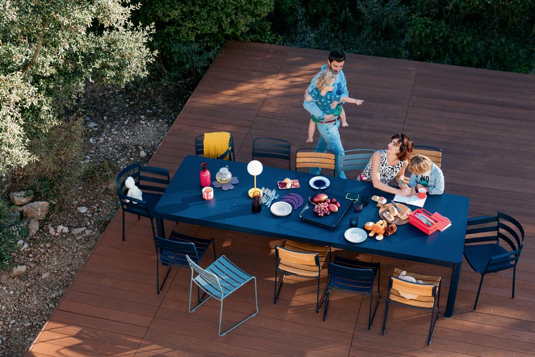 table de jardin, table metal, table 12 personnes, table de jardin a rallonge, table allonge