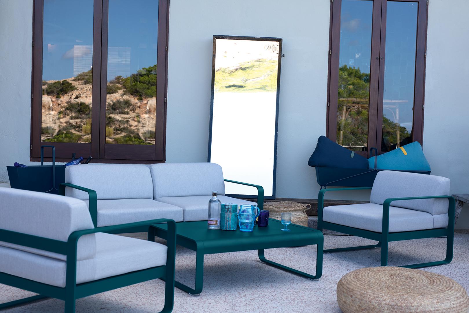 fauteuil de jardin, table basse metal, canape de jardin