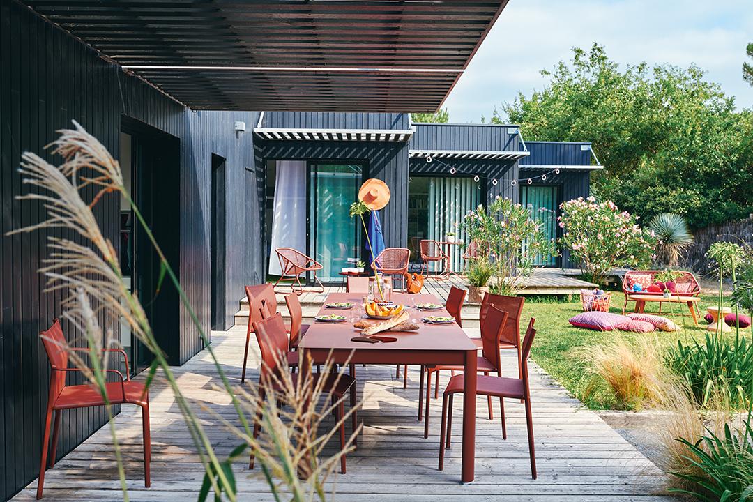 table de jardin, chaise metal, table metal, chaise de jardin, table allonge