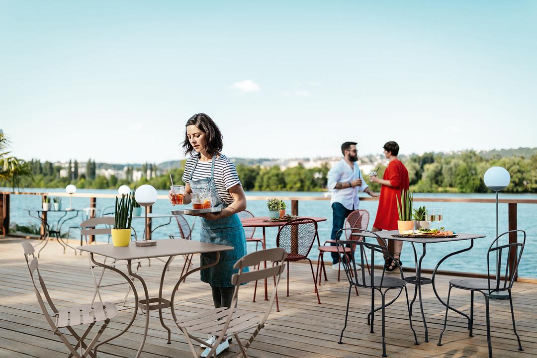 terrasse hotel, terrasse restaurant, mobilier metal, mobilier metal restaurant, mobilier terrasse hotel
