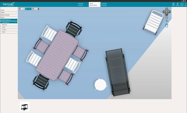 3id cr er et am nager sa terrasse en 3d avec le mobilier d 39 ext rieur en couleurs fermob. Black Bedroom Furniture Sets. Home Design Ideas