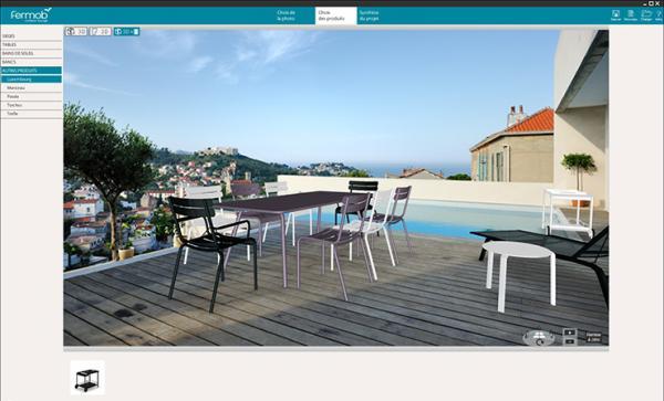 3id cr er et am nager sa terrasse en 3d avec le mobilier for Projet terrasse en 3d