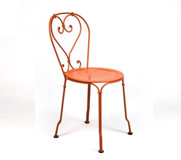 Fermob 1900 iron garden chair romantic colours - Chaise pliante fermob ...