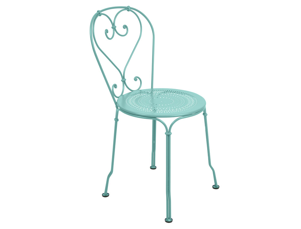 Fermob 1900 iron garden chair romantic colours - Chaise luxembourg fermob ...