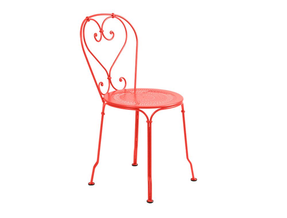 Chaise 1900 fermob de jardin en fer et en couleurs romantique for Chaise capucine
