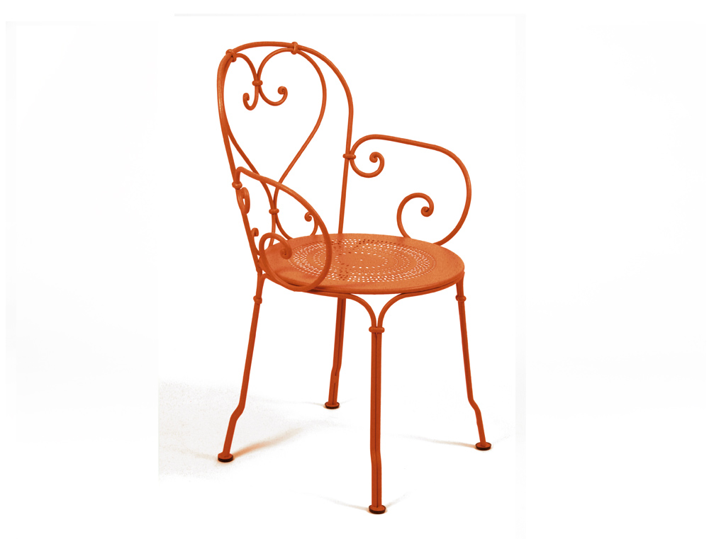 fermob 1900 iron garden chair colours and scrolls. Black Bedroom Furniture Sets. Home Design Ideas