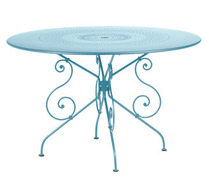 Ø 117 cm round table Fjord Blue