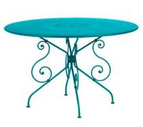 Ø 117 cm round table Turquoise