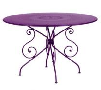 Ø 117 cm round table Aubergine