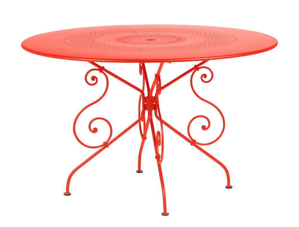 fermob 1900 colourful romantic iron garden table. Black Bedroom Furniture Sets. Home Design Ideas