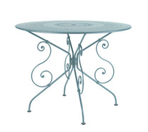 Ø 96 cm round table Fjord Blue